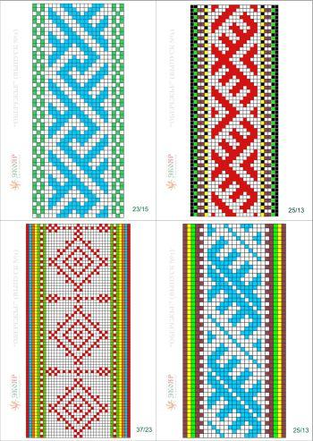 схемы ткачества +на берде