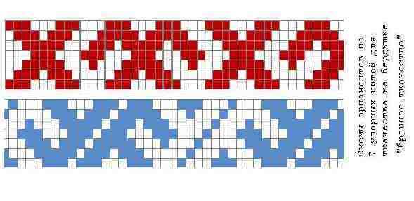 Схемы поясов ткачество на бердо